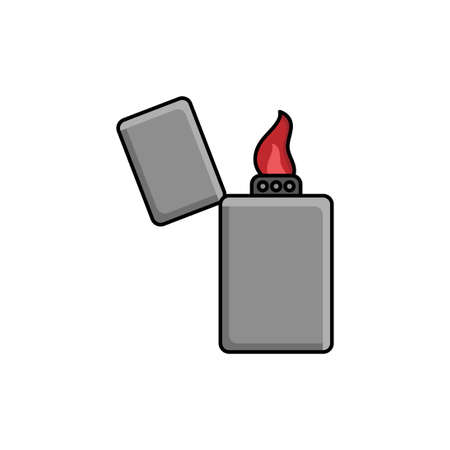 gas lighter vector design template illustration