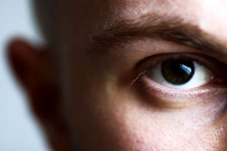 eye of a man Stock Photo