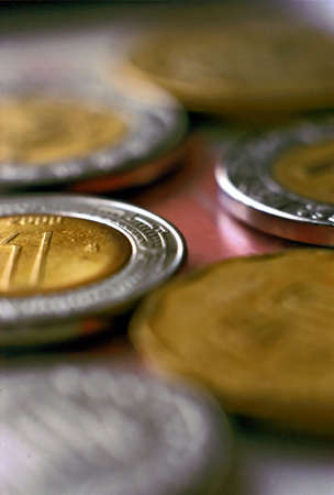 mexican coins Stock Photo