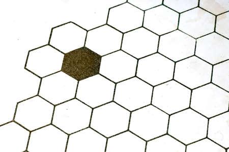 abstract hexagons Stock Photo