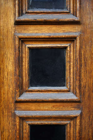 and worn out: old wooden door