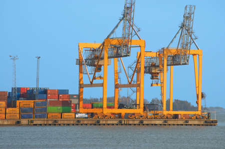 cargo equipment at port Stock Photo