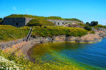 suomenlinna fortress island scenery Stock Photo