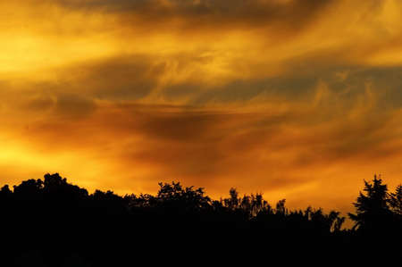 the silence of the world: dramatic sunset