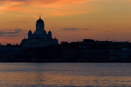 helsinki city silhouette
