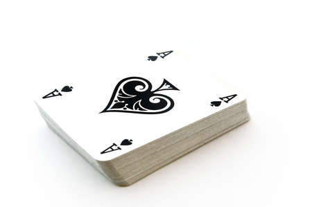 isolated deck of cards Editorial