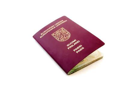 isolated finnish passport Stock Photo