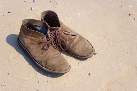 swimming shoes: old shoes