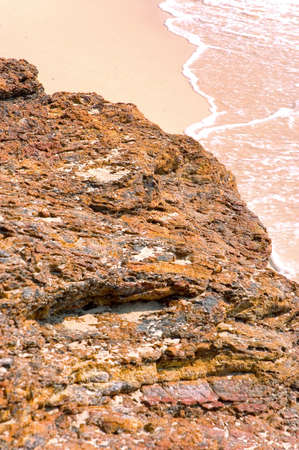 briny: rock on beach