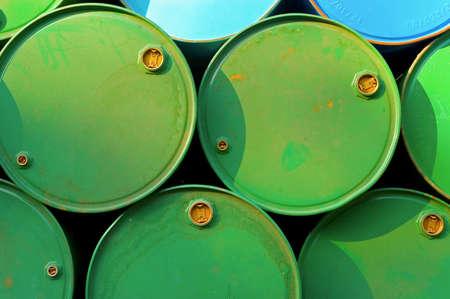 chemical barrels Stock Photo