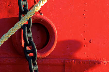 unbreakable: boat chain Stock Photo