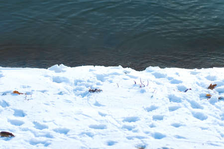 snow and open water photo