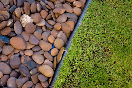 pebbles and grass