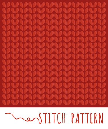 Knitting stitch pattern set Illustration