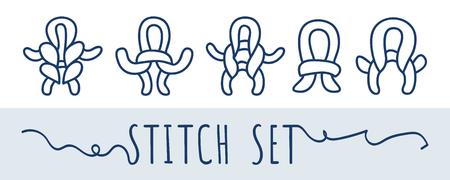 Knitting and needlework icon set Illustration