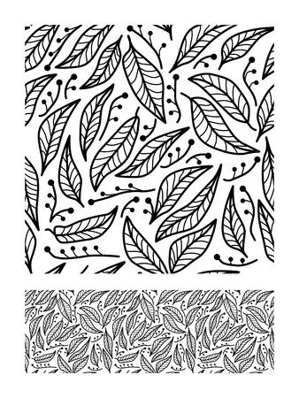 Seamless abstract natural pattern. Vector illustration. Иллюстрация