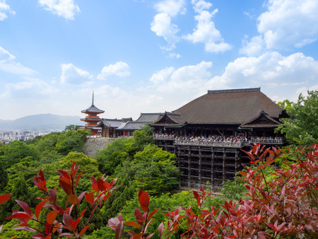 Kiyomizu temple, Kyoto, Japan, landscape Kyoto landmark. Stock Photo