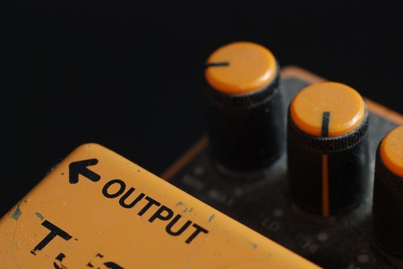 distortion: Distortion Pedal  Stock Photo