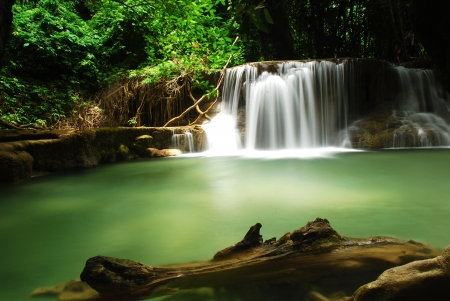 Water in ferrest,Kanchanaburi, Thailand photo
