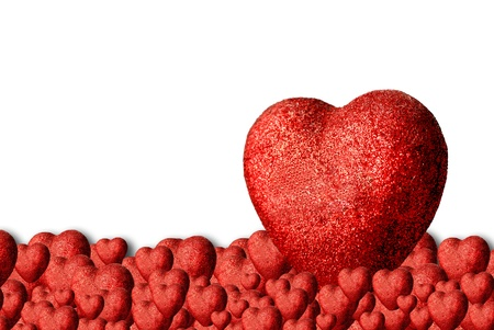 Heart background with big heart Stock Photo - 16378755