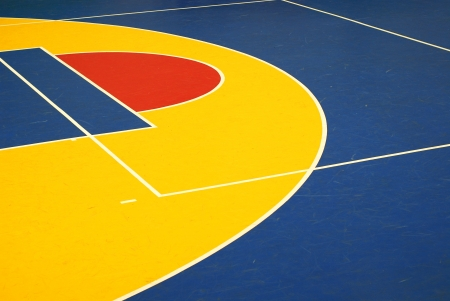 Colorful basketball court photo