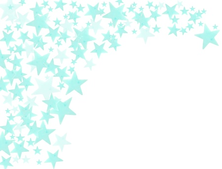 Many stars on white background