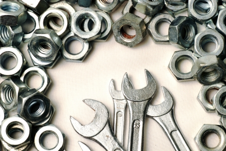 Wrench and Screw nut Stock Photo - 16965059