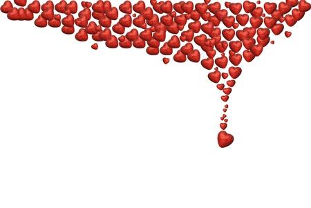 Many hearts background Stock Photo - 16964305