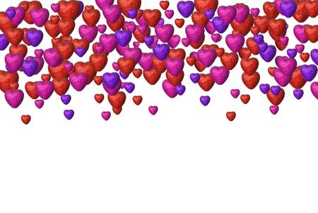 Many hearts background Stock Photo - 16964309