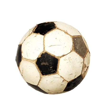 Old soccer ball photo