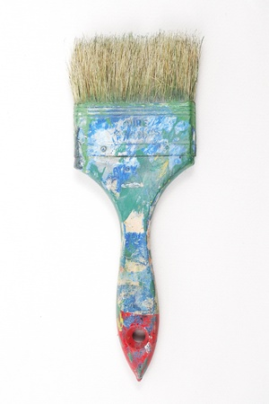 Old and dirty paint brush photo