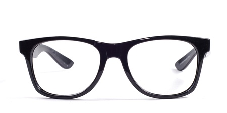 black glasses on a white background Stock Photo - 18504029