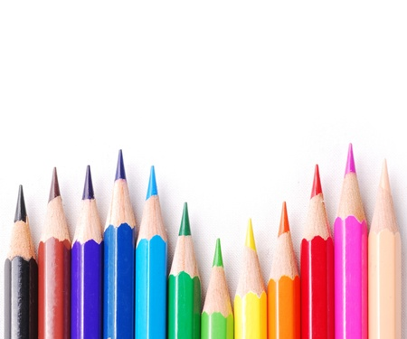 Colourful pencil photo