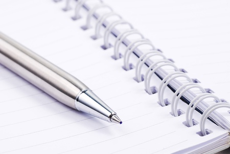 letter memo: Blank note paper with silver pen