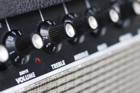 overdrive: button of guitar amplifier