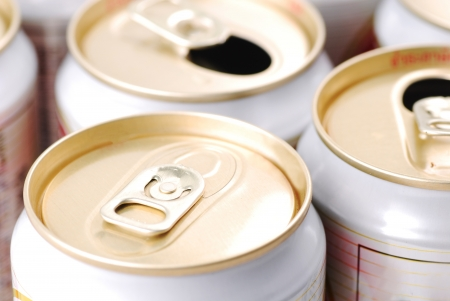 unopen: Only un-opened drinks can  Stock Photo