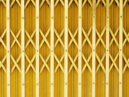 Yellow steel door Stock Photo - 22919608