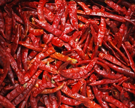 chilli red: Chile rojo seco, ingrediente alimentario