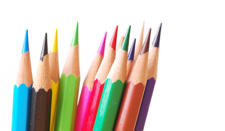 Colorful pencil on isolate background photo