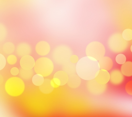 abstract yellow and red background and blur bokeh circles photo