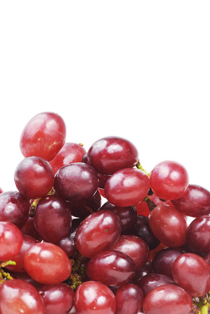 red grape on isolated white background photo
