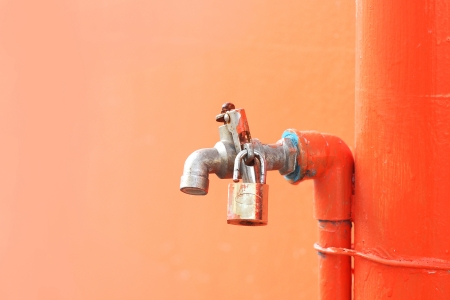 iron faucet water with lock  photo