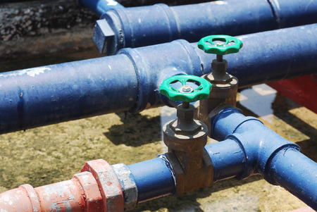 junction pipe: Pipes and Valves Stock Photo