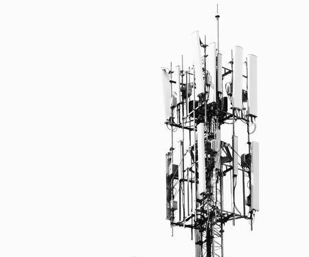 telecoms: Telecomunicazioni Antenna su sfondo bianco