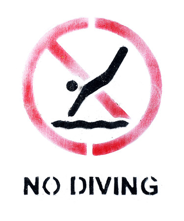 no diving sign: No diving sign ,grunge style Stock Photo