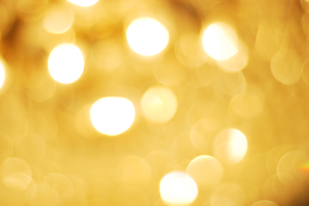 abstract yellow bokeh circles background Stock Photo
