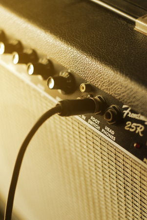 guitar amplifier with cable audio jack, warm tone