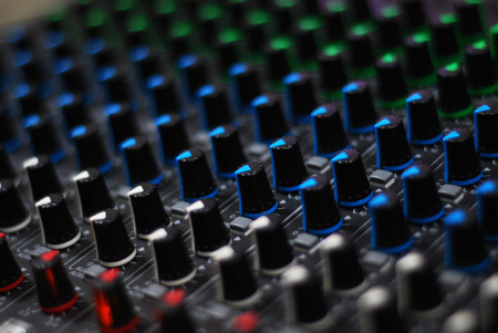 buttons of auido mixer board