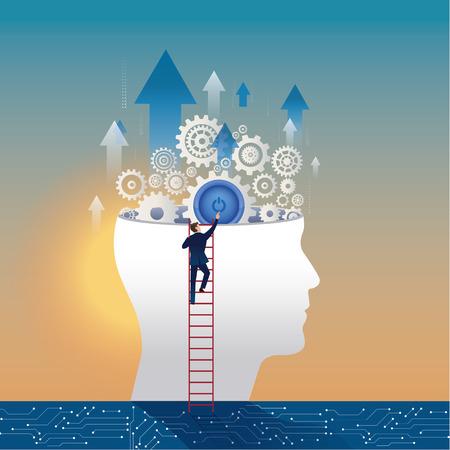 skills. Concept business illustration. Illustration
