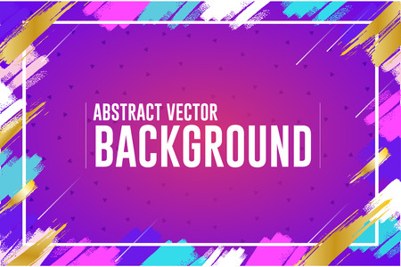 Colorful paint brush background design- Vector 向量圖像